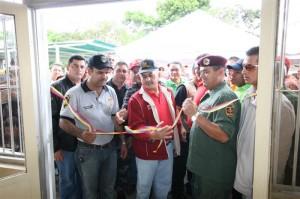El Alcalde José Ramón López inaugurando el Nuevo Módulo en Nva Chirica